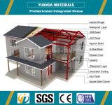 Prefab вилла структуры стальной рамки здания с чертежом