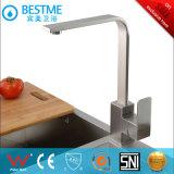 Brossé dessin carré à poignée unique de l'eau du robinet de cuisine (BMS-2003)