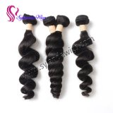 Естественный Weave человеческих волос волны черноты #1b бразильский свободный связывает уток волос с свободно перевозкой груза