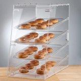 Étalage acrylique de nourriture de 3 rangées, cas d'exposition acrylique de boulangerie
