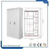 بسيطة غرفة نوم أثاث لازم [مدف] لوح 3 أبواب خشبيّة خزانة ثوب مقصورة