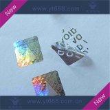 Etiqueta evidente do holograma do vácuo 3D da calcadeira feita sob encomenda com número de série