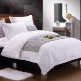 中国の製造者の白い綿のサテンのジャカード5星のホテルの寝具
