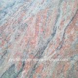 Tuiles rustiques de plancher de tuiles de mur de revêtement de granit rouge de la Chine Juparana