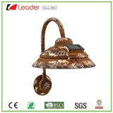 Venda de metal quente lâmpada da luz solar rústico do lado de recreio para decoração de casa e jardim