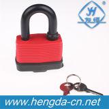 A segurança Yh9074 laminou o cadeado impermeável do ferro com carcaça plástica