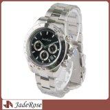 Hombre vestido multifuncional reloj de pulsera de acero inoxidable reloj para hombre