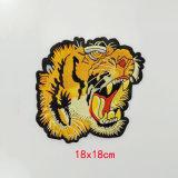 Tiger швейной головки блока цилиндров на одежду, Sew! исправлений мешок, шторки Applique вышитый животных патч головки блока цилиндров