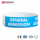 Le parc aquatique Ticket imperméable Tyvek bracelet RFID