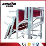 競争価格のアルミニウム折るコーラスは販売の梯子の調節可能な高さを立てる