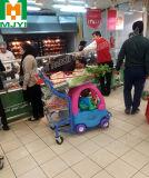 Chariot commode à achats de commerce de détail de supermarché de bébé d'enfants