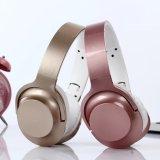 Fone de ouvido Bluetooth cor metálica dobrável para audio player portátil