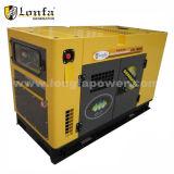 Conjunto de generador diesel silencioso refrigerado por agua 10kw a 100kw