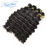 10A comerciano l'estensione all'ingrosso profonda brasiliana dei capelli umani del Virgin dell'onda