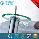 Латунный смеситель тазика водопада тела с круглым стеклом (BM-A10029)