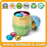 Stagni impaccanti di memoria delle uova di Pasqua del contenitore di regalo del metallo del commestibile