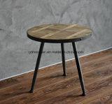 O ferro americano, feito em volta dos diversos a tala de madeira do vento industrial três pés de madeira redonda da tabela algum leitura da tabela de chá põr (M-X3316)