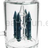 Sextuple gefrittetes Platten-rauchendes Wasser-Glasrohr (ES-GB-122)
