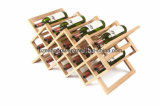 고품질을%s 가진 2017년 중국 Handmade 자연적인 와니스 Foldable 나무로 되는 포도주 선반