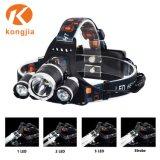 Projecteur à LED rechargeable portable 10W T6 de la tête de Zoom en aluminium léger