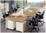 Tabella lineare del calcolatore di ufficio della scrivania con i cassetti mobili