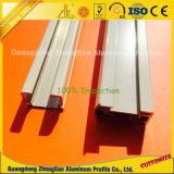 Revêtement en poudre personnalisé rideau de profils de rail en aluminium blanc
