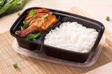 Embalagem de plástico descartáveis ecológicos biodegradáveis 2 Divisões Food Lunch Box