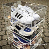 Custom acrylique chaussure géante boîte de rangement