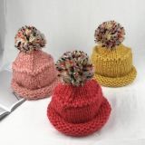 Изготовленные из хлопка моды дамы Red Hat с POM POM