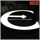 Cartas de acrílico de la muestra del Delantero-Lit 3D del acero inoxidable