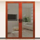Puerta de vidrio hueco con persianas