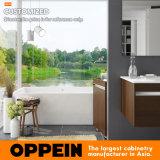 Современной тщета деревянной ванной комнаты конструкции установленная стеной плавая