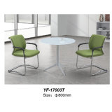 Tavolino da salotto europeo di vetro Tempered di disegno della mobilia moderna (YF-T17003)