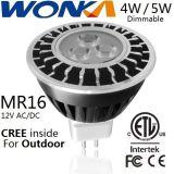 옥외 점화를 위한 크리 사람 LED MR16 전구 4W/5W Dimmable 스포트라이트