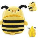 고품질 아이들 크리스마스 선물 학교 책가방이 귀여운 동물성 Apis Florea Shped 꿀벌 견면 벨벳에 의하여 농담을 한다