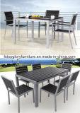 PET Rattan-Garten-Tisch, der Stuhl-gesetzte im Freienmöbel speist