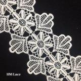 11см молоко шелковые одежды фрезерование моды дизайн вышивка кружева кузова Hma0343