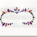 Face à de gros de bijoux autocollants colorés