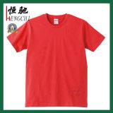 T-shirts ronds de coton de couleur de plaine du collet des hommes de promotion
