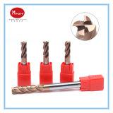 2/4/6 de cortador de trituração de aço da face da extremidade do carboneto das flautas