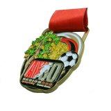Все права защищены сувениров/Soccer медаль в Shinny Gold