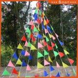 Commerce de gros triangle de mariage chaîne polyester Bunting bannière du pavillon