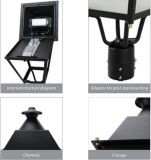Straßen-Wand-Garten-helles Solarim Freien der LED-super heller Sicherheits-60W, LED-Pfosten-Oberseite-Straßenlaterne