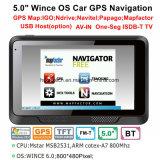 """Auto-LKW des Soemwince-5.0 """" Marine-GPS-Navigation mit FM Übermittler, Handels-in der hinteren Kamera, Hand-GPS-Navigationsanlage, Bluetooth für Handy, TMC-Verfolger, Fernsehapparat"""
