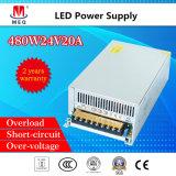 20A 24V Schaltungs-Stromversorgungen-industrielle Stromversorgung 480W