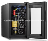 8bottles a courbé le refroidisseur de vin thermoélectrique de modèle de porte