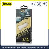 De draagbare 2.1A Dubbele Lader van de Auto USB voor Mobiele Telefoon