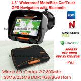 Motociclo impermeável Bike Acção Exterior Veículo automóvel Marine navegação GPS com ecrã IPS GPS Navigator, transmissor FM, sistema de navegação GPS do dispositivo portátil