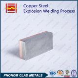 Медная алюминиевая биметаллическая плита биметалла металла взрывно заварки одетая