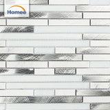 Le mattonelle di mosaico bianche di alta qualità all'ingrosso si sono mescolate con Glass&Aluminum
